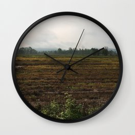 The countryside landscape in Thailand Wall Clock