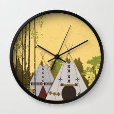 Tipis Wall Clock