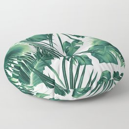 Tropical Jungle Leaves Dream #3 #tropical #decor #art #society6 Floor Pillow