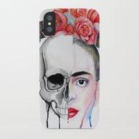 frida kahlo iPhone & iPod Cases featuring Frida Kahlo  by Karol Gallegos Carrera