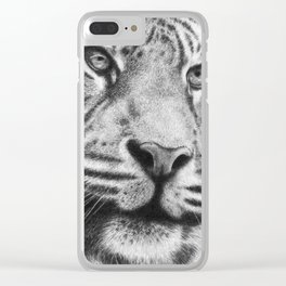 Wildlife Tiger Clear iPhone Case