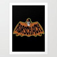 rorschach Art Prints featuring Rorschach by Buby87