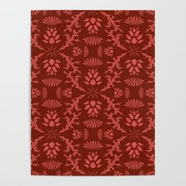 Thistles on Red Poster