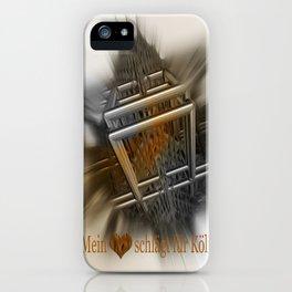 Mein Herz schlägt für Köln iPhone Case