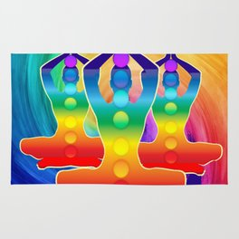 TRIPLE Om Meditation Mantra Chanting DESIGN Rug