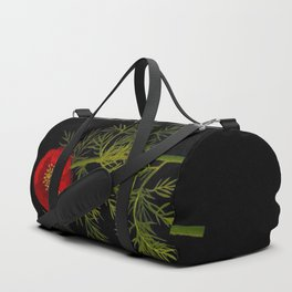 Paeonia Tenuifolia Mary Delany Vintage British Floral Flower Paper Collage Black Background Duffle Bag
