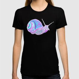 Psychedelic Galaxy Snail T-shirt