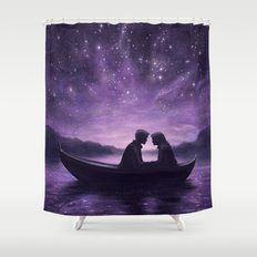 Lovers Under A Starlit Sky Shower Curtain
