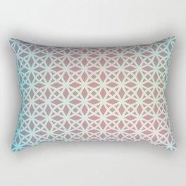Pink and Blue Gradient Geometric Rectangular Pillow