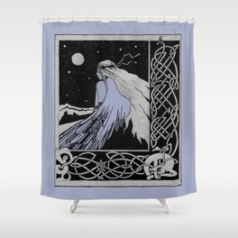 girl-bird Celticum Shower Curtain