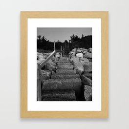 Cape Cod Stairs Framed Art Print