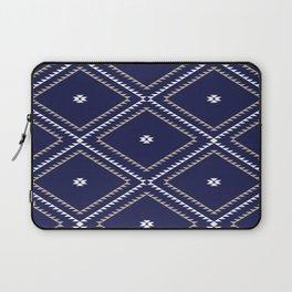 Navajo Pattern - Tan / White / Navy Laptop Sleeve