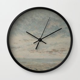 Low Tide at Trouville Wall Clock