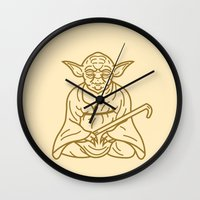yoda Wall Clocks featuring Yoda by Roland Banrevi