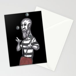 mime juggling Stationery Cards