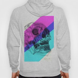 Skull pencil drawing with colour Hoody