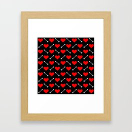 hearts and arrows pattern Framed Art Print