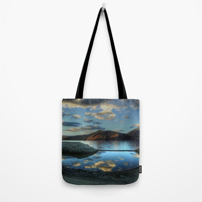 Rider at Pangong... Tote Bag