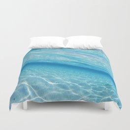 Beach Ocean Water Waves Photography Blues Underwater Pool Duvet Cover