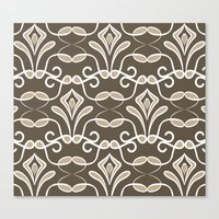 "deco Canvas Prints featuring ""Deco"" by Juliagrifol designs"