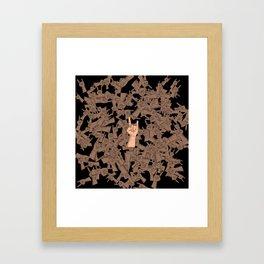 Horns Up Framed Art Print
