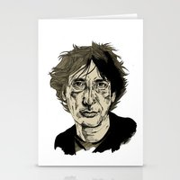 neil young Stationery Cards featuring Neil Gaiman by Andy Christofi