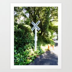 Korbel Rail Road Crossing Art Print