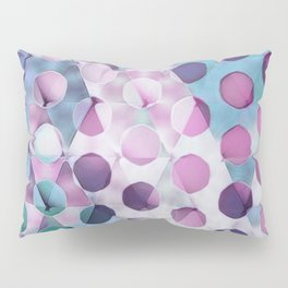 Circles on Triangles Lavenders Blues Pillow Sham
