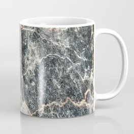 Gray Slate Marble Pattern With Pastel Copper Veins Coffee Mug