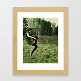 invisible bike Framed Art Print