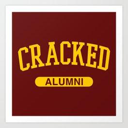Cracked Alumni Art Print