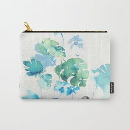 Tropical leaves, (collab Dylan Silva!) Carry-All Pouch