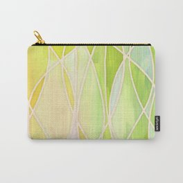 Lemon & Lime Love - abstract painting in yellow & green Carry-All Pouch
