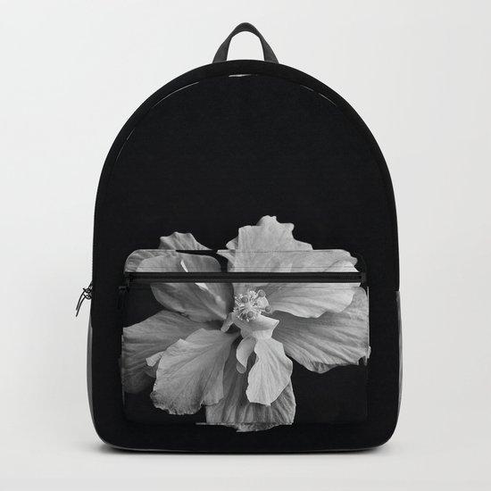 Hibiscus Drama - Black and Grey Backpack