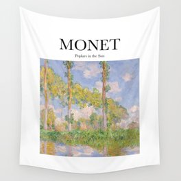 Monet - Poplars in the Sun Wall Tapestry
