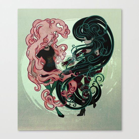 Bonnibel and Marcy: Complete me Canvas Print