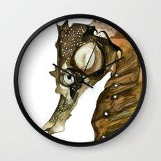 Ocean Treasures No.1 Seahorse Watercolor Wall Clock