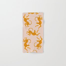 Leopard Race - pink Hand & Bath Towel