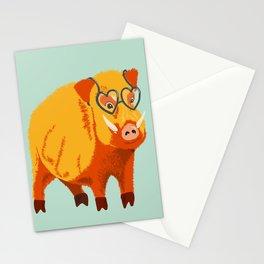 Benevolent Funny Boar Pig Stationery Cards