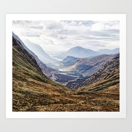 View of Glen Etive from Glencoe, Scotland Art Print