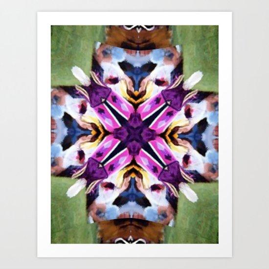 Feather Dancer Mandala Art Print