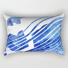 Water Nymph LXV Rectangular Pillow