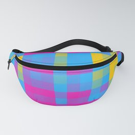 Pansexual Pride Pixellated Plaid Pattern Fanny Pack