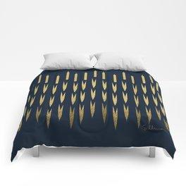 Navy Cattail Comforters