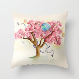 Peace Treety Throw Pillow