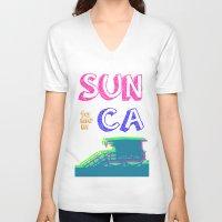 santa monica V-neck T-shirts featuring SUNta moniCA by ARTITECTURE