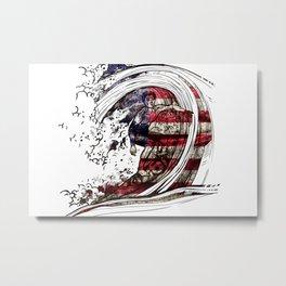 Usa Surf Team Metal Print