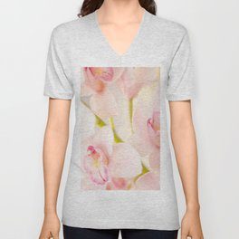 Orchid Flower Bouquet On A Light Background #decor #society6 #homedecor Unisex V-Neck
