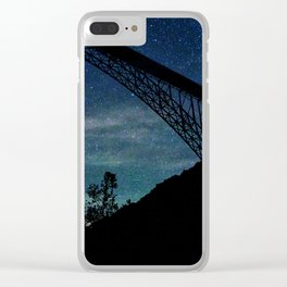 Blanket Of Stars Clear iPhone Case