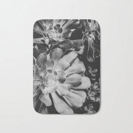 Aeonium in Monochrome  |  Succulents Bath Mat
